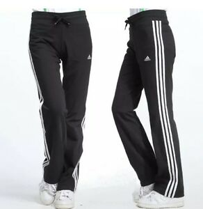 1411e5adefc3 adidas ESS 3S KN Womens Tracksuit Bottom Black Sweat Pants joggers ...