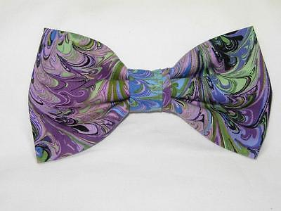 Lilac Wool Bow Tie Pre-Tied Bow Tie Lilac Bow Tie Pastel Tweed Bow Tie
