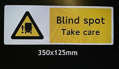 Blind Spot Take Care Long Vehicle Sticker London Compliancy Pretty And Colorful