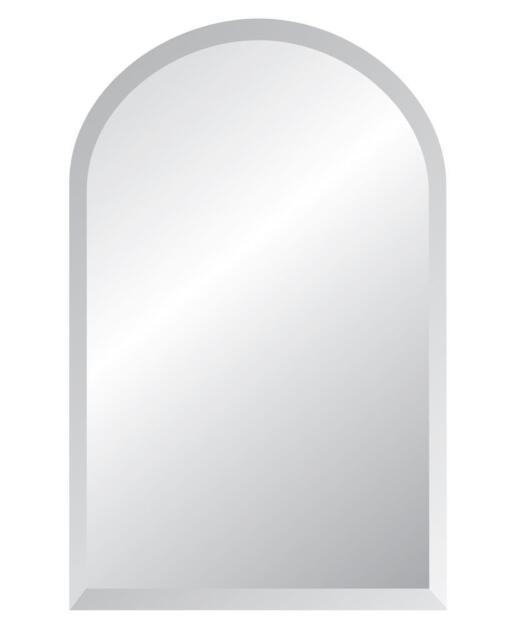 Arch Frameless Bevel Edge Contemporary Decorative Wall Mirror