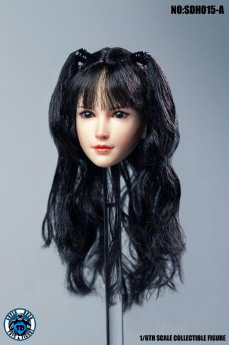 "1//6 SUPER DUCK SDH015A Female Head Sculpt Head Model F 12/""PH Steel Skeletal Body"
