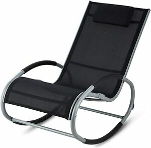Rocker mobili da giardino in metallo Sedia a dondolo Outdoor Rilassante Patio sole reclinabile a