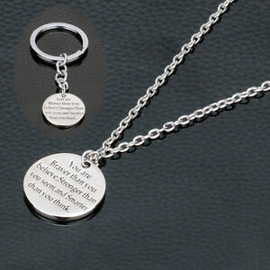 You are braver stronger smarter inspirational pendant necklaces image is loading you are braver stronger smarter inspirational pendant necklaces aloadofball Choice Image
