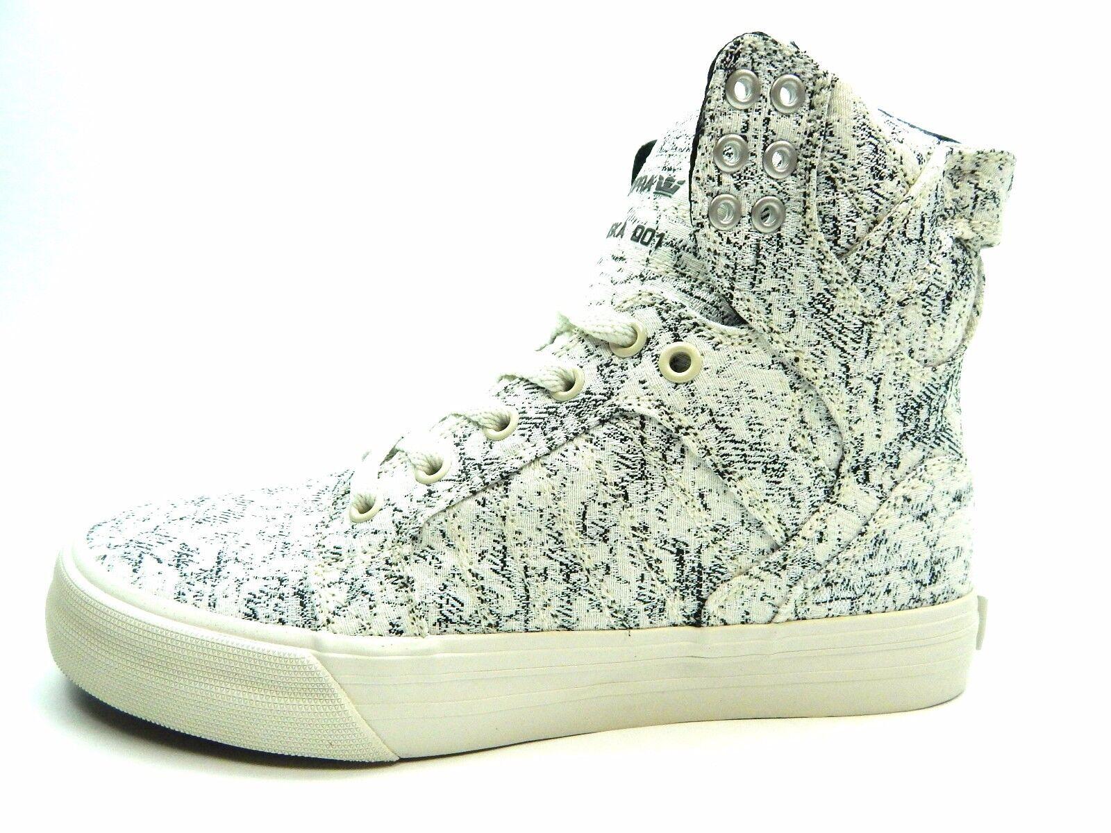 Supra para Skytop blancoo Negro Tejido 98002-162-M Zapatos para Supra mujeres d48009