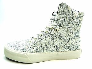 size 40 c61db cd6f2 Image is loading SUPRA-SKYTOP-WHITE-BLACK-WOVEN-98002-162-M-