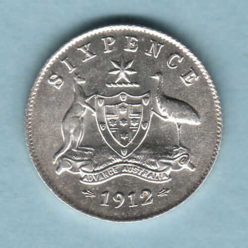 Australia. 1912 Sixpence.. Much Lustre.. aEF