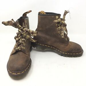 Dr Doc Martens Martens Doc England Braun Distressed Ankle Stiefel Damens's sz 4 UK ... 069a40