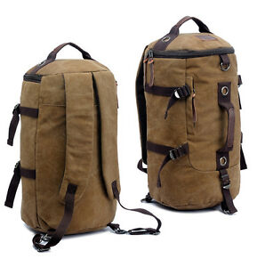 Details about Brown Extra Large Heavy Duty Canvas Military Army Duffle Bag Rucksack  Backpack 5e8ac988623