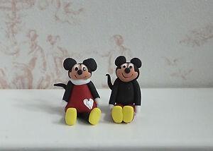 Maison De Poupées Miniatures: Tiny (échelle 1:12) Mickey Et Minnie Figurines-afficher Le Titre D'origine Une Gamme ComplèTe De SpéCifications