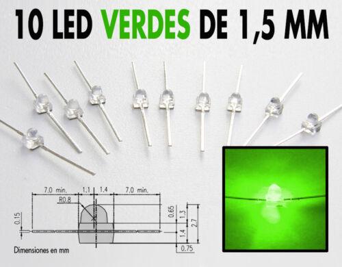 NUEVOS !! resistencias gratis 10x Led Miniatronics Ø 1,5 mm tutorial