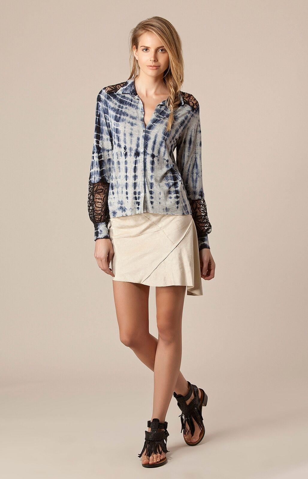 Liberty Garden Ultra Suede Mini Skirt   Asymmetrical Hem XS S NWT 4BRJ4880