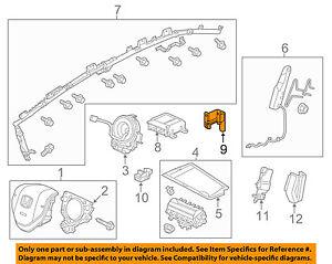 Details about HONDA OEM 2012 Civic Airbag Air Bag SRS-Front Impact Sensor  77930TR0B21