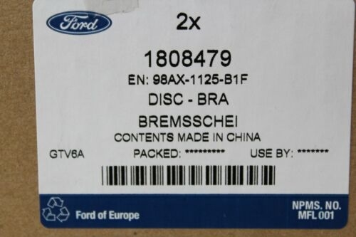 Bremsbeläge Ford Focus MK1 1808479 Original Bremsscheiben 1763301