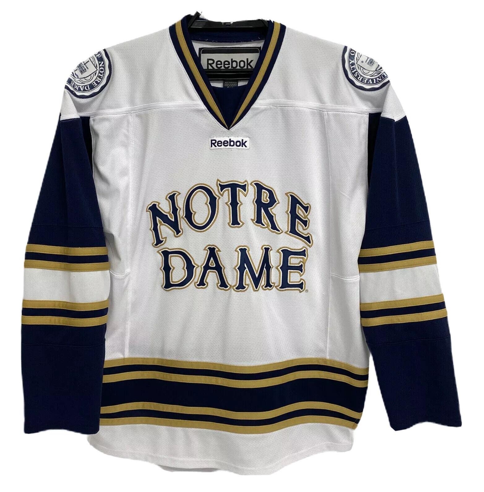 Reebok Notre Dame Fighting Irish Hockey Jersey Adult Size S