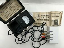 Antique Honeywell Millivoltmeter W129a2 Simpson 127 Withbox Case Amp Instructions