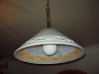 Lampe Deckenlampe Hängelampe Deckenleuchten  Honsel marmiert Murano