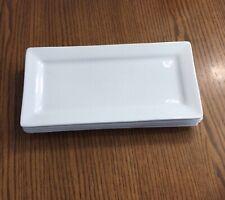 CS World Tableware SL-23 Slate Bright White Rectangular Plate 12