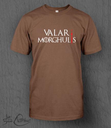 Game of Thrones T-Shirt Valar Morghulis MEN/'S All Men Must Die Stark