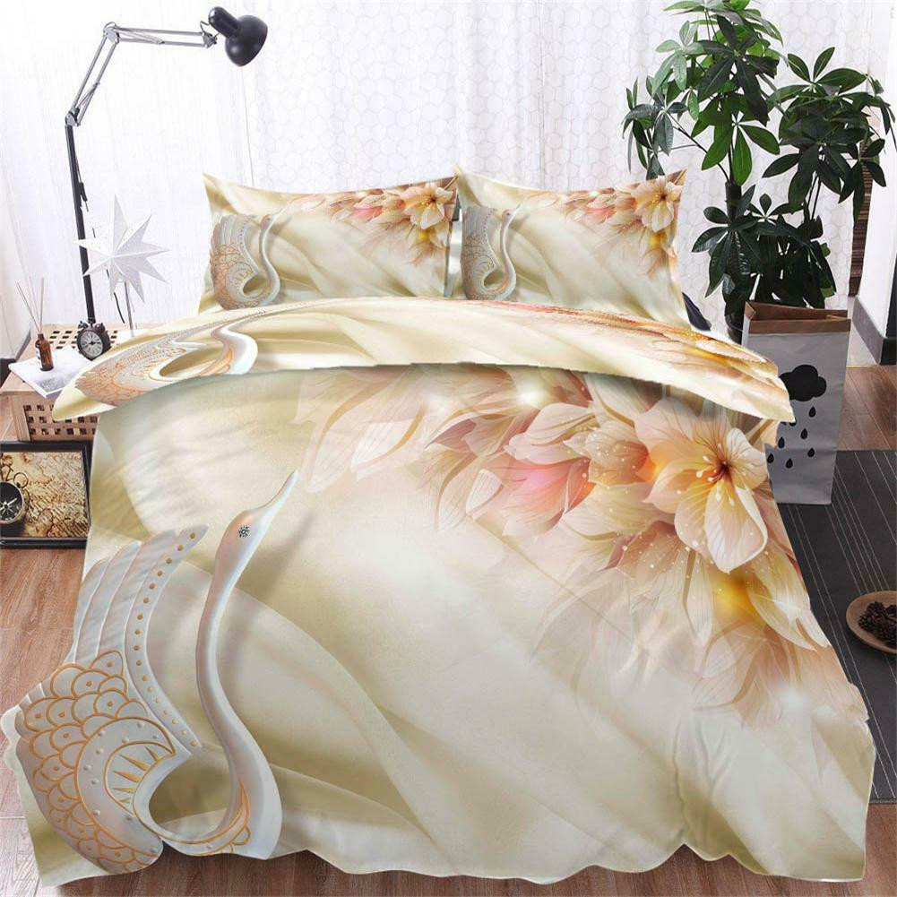 Swan Nice Division 3D Printing Duvet Quilt Doona Covers Pillow Case Bedding Sets