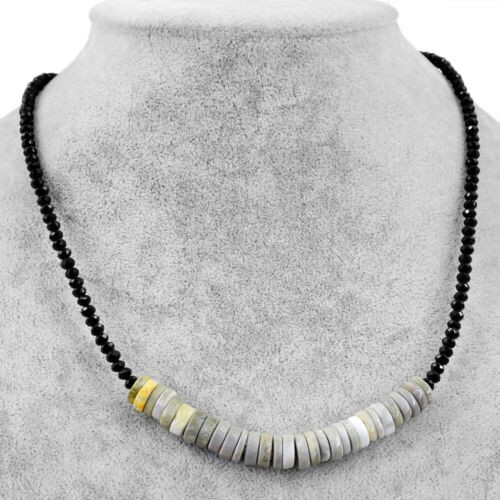 75.00 Cts Natural Bumble Bee Jasper /& Spinel Faceted Beads Necklace NK 12E60