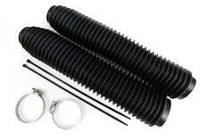 NEW MDR universal 35 wave fork gaitors for motocross enduro evo vintage black