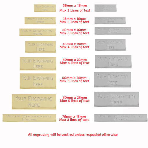 Engraved Trophy Plates / Discs  Various Sizes Gold & Silver  FREE ENGRAVING