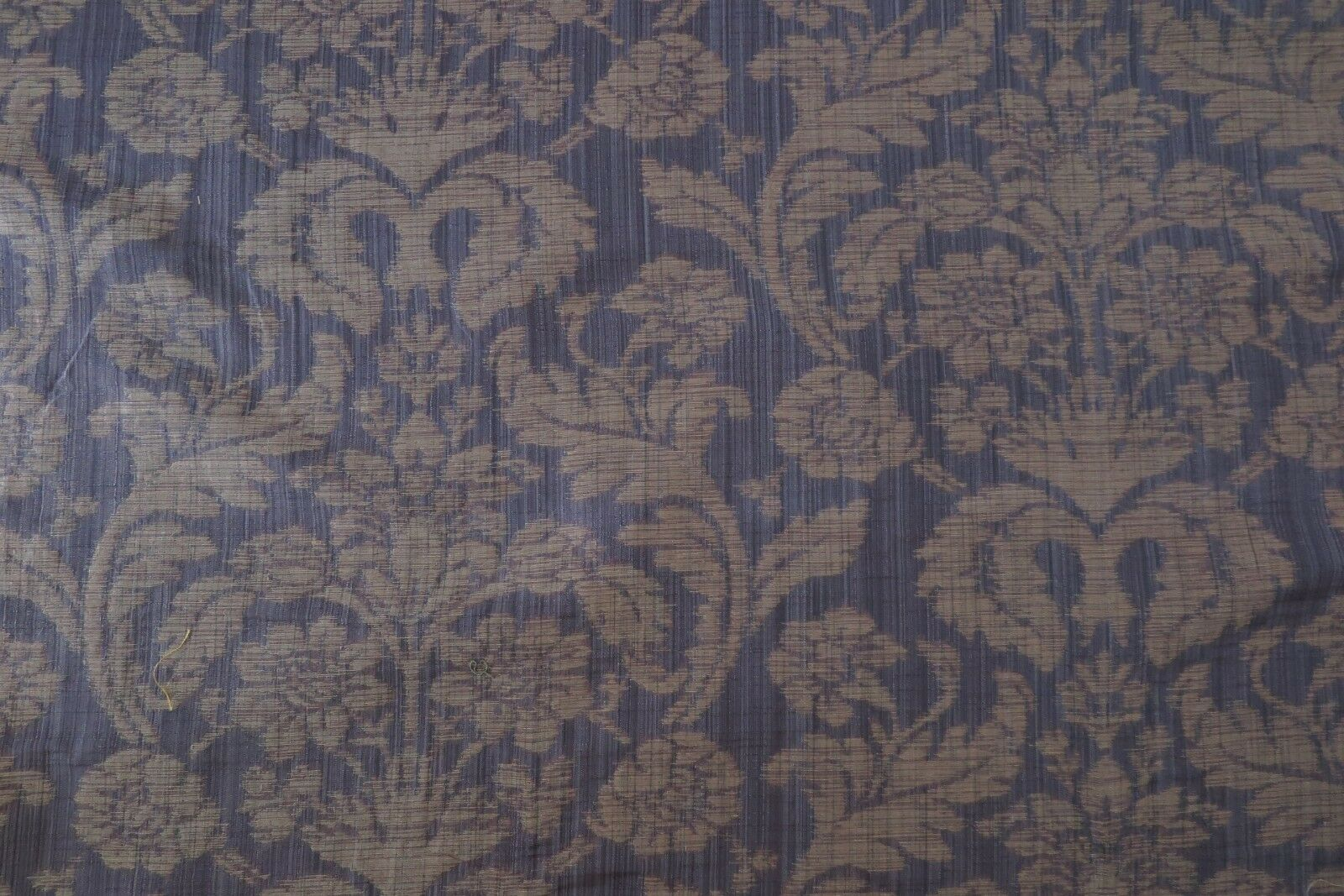 Zoffany Curtain Upholstery Fabric Rose Damask 3 Metres Aubergine Woven