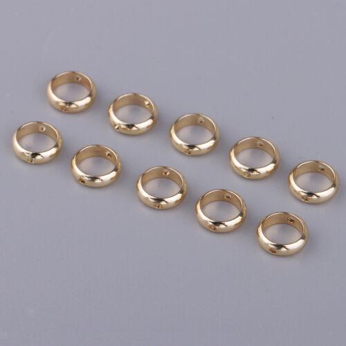 10x Anillos de Metal redonda granos Espaciador Perlas Pulsera De Bricolaje Accesorios Para El Cabello Artesanal