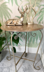 Vintage-Retro-Style-Side-Table-Occasional-Metal-Iron-Bedside-Coffee-Urban-Boho