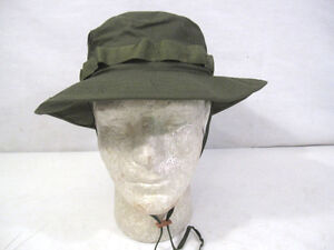 Vietnam US Army OG-107 Green Ripstop Jungle Boonie Hat 1969 MINT ... 550b745073b