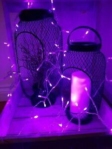 100-LUCI-LED-Viola-Fata-Illuminare-Albero-di-Natale-Decorazione-Muro-Batteria