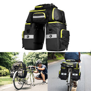 Cycling-Bicycle-Bike-Rack-Rear-Seat-Tail-Carrier-Trunk-Triple-Pannier-Bag-75L