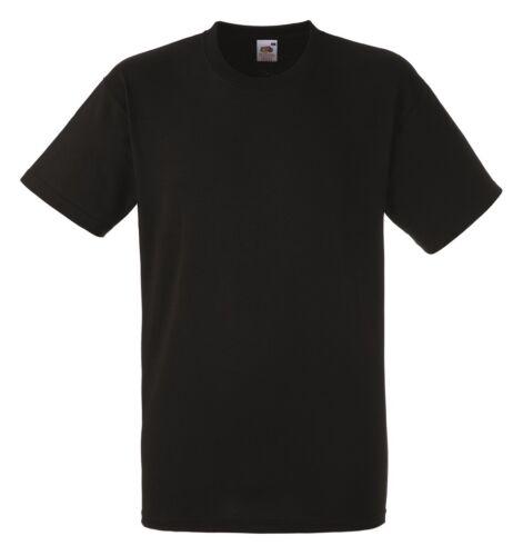 24 Fruit of the Loom Heavy Cotton PLAIN BLANK Black T-Shirts Tshirts