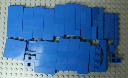 mods with holes etc VGC  W1-5 LEGO Blue Bricks 1x1,1x2,1x3,1x4,1x6 100 arch
