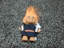 "Chicago Bears NFL Good Luck Troll Doll 3/"" Russ #11352 Jersey Orange Hair w// Tag"
