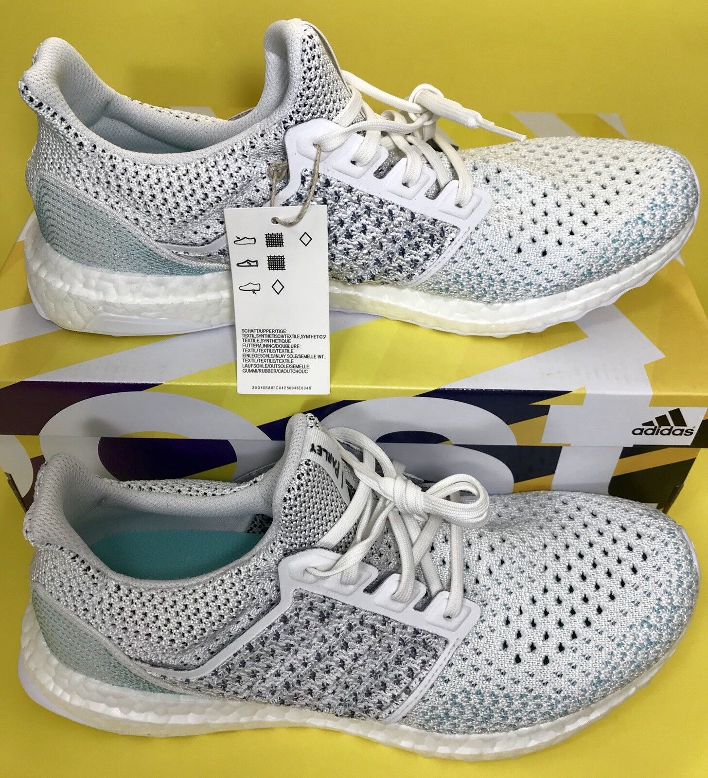 e0d69ce9e4783 Adidas Parley Ultra Boost LTD White Cloud bluee Spirit BB7076 Men s Size 9