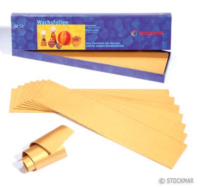 ideal für Kerzengestaltung Wachsfolien 18 Farben 200x40 mm von Stockmar