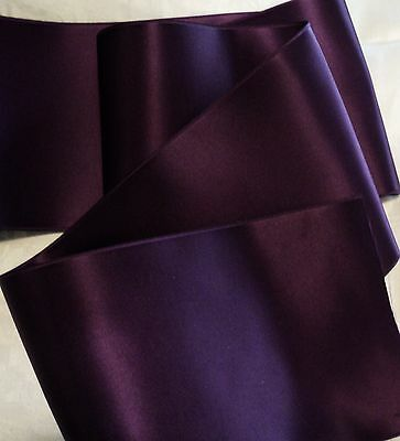 """2/"""" WIDE GERMAN MOIRE RIBBON FOREST GREEN PLUM RAYON"""
