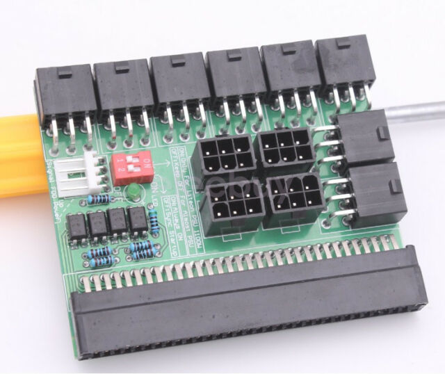 New 6 Port Breakout Board Adapter For DPS-800 DPS-1200FB Ethereum Mining