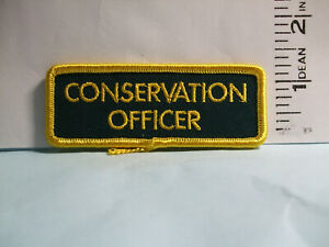 police patch   ALBERTA FISH & WILDLIFE CONSERVATION OFFICER CANADA  TAB