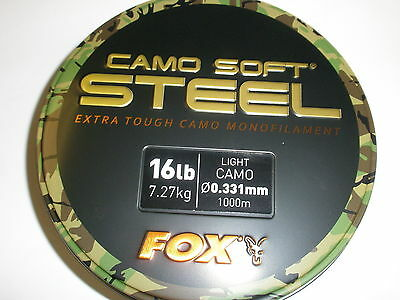Fox Camo Soft Steel Dark Mono Mainline 1000m ALL VARIETIES