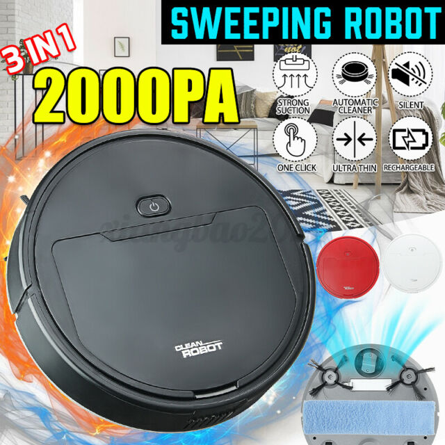 Self Navigated Smart Robot Rechargeable Vacuum Cleaner Full Auto Sweeper Sensor
