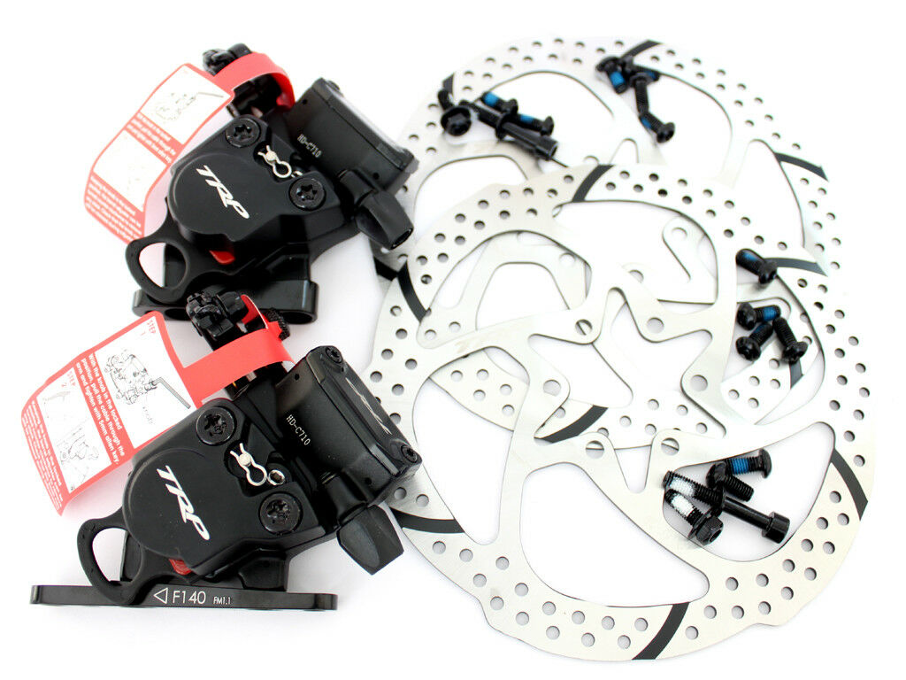 TRP HY RD Flat Mount Front & Rear Cable-Actuated Hydraulic Disc Brake set 160mm