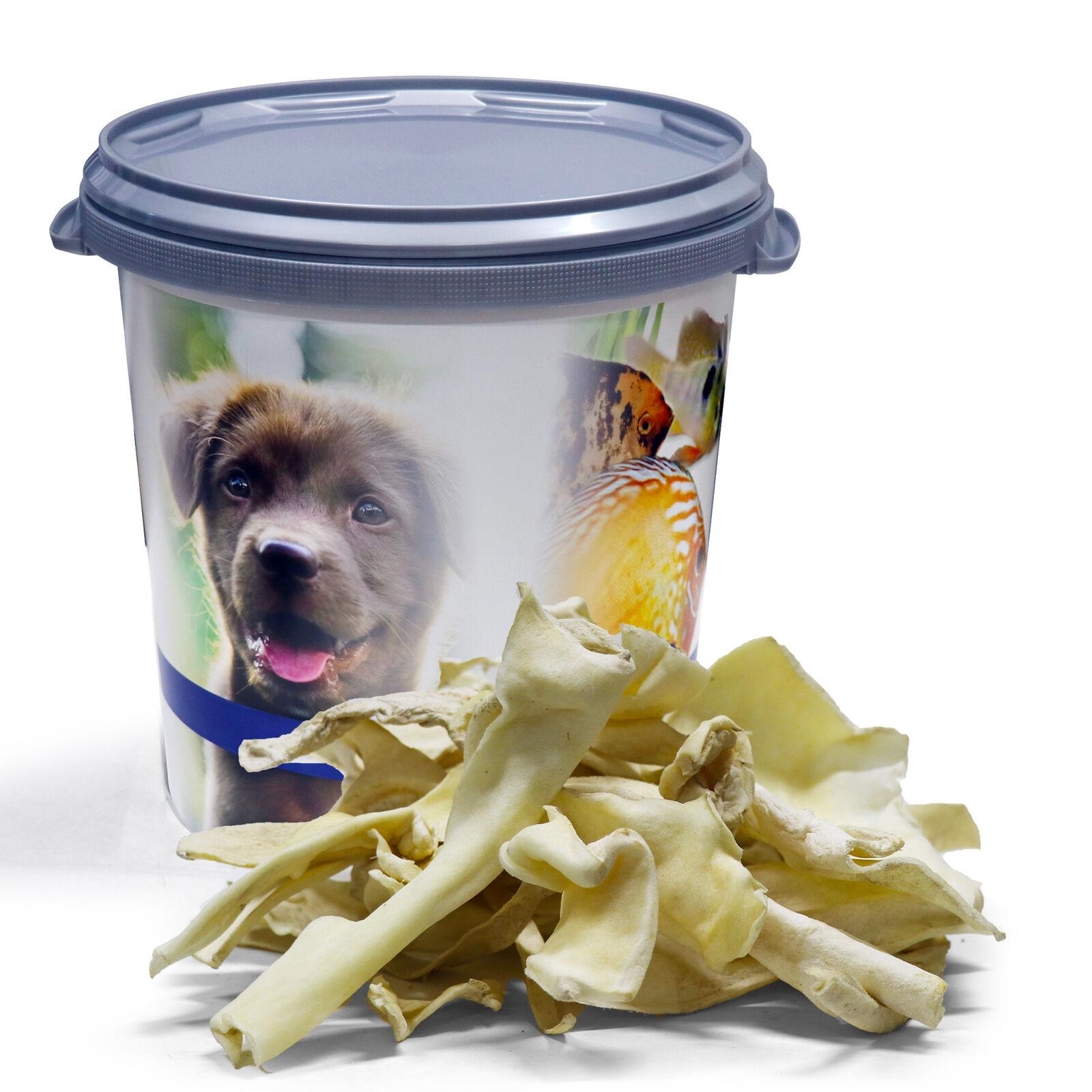 10 kg Lammkopfhaut 10000 g getrocknet für Hunde Lamm hell Lyra Pet® in 30L Tonne