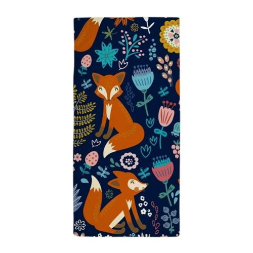 1696003239 CafePress Cute Red Foxes /& Colorful Retro Flower Beach Towel