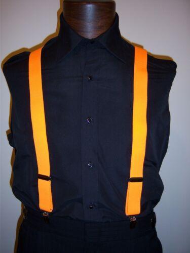 Lemon /& Red Pink Lime Neon Color Orange NEW Neon Suspenders- Mens Elastic