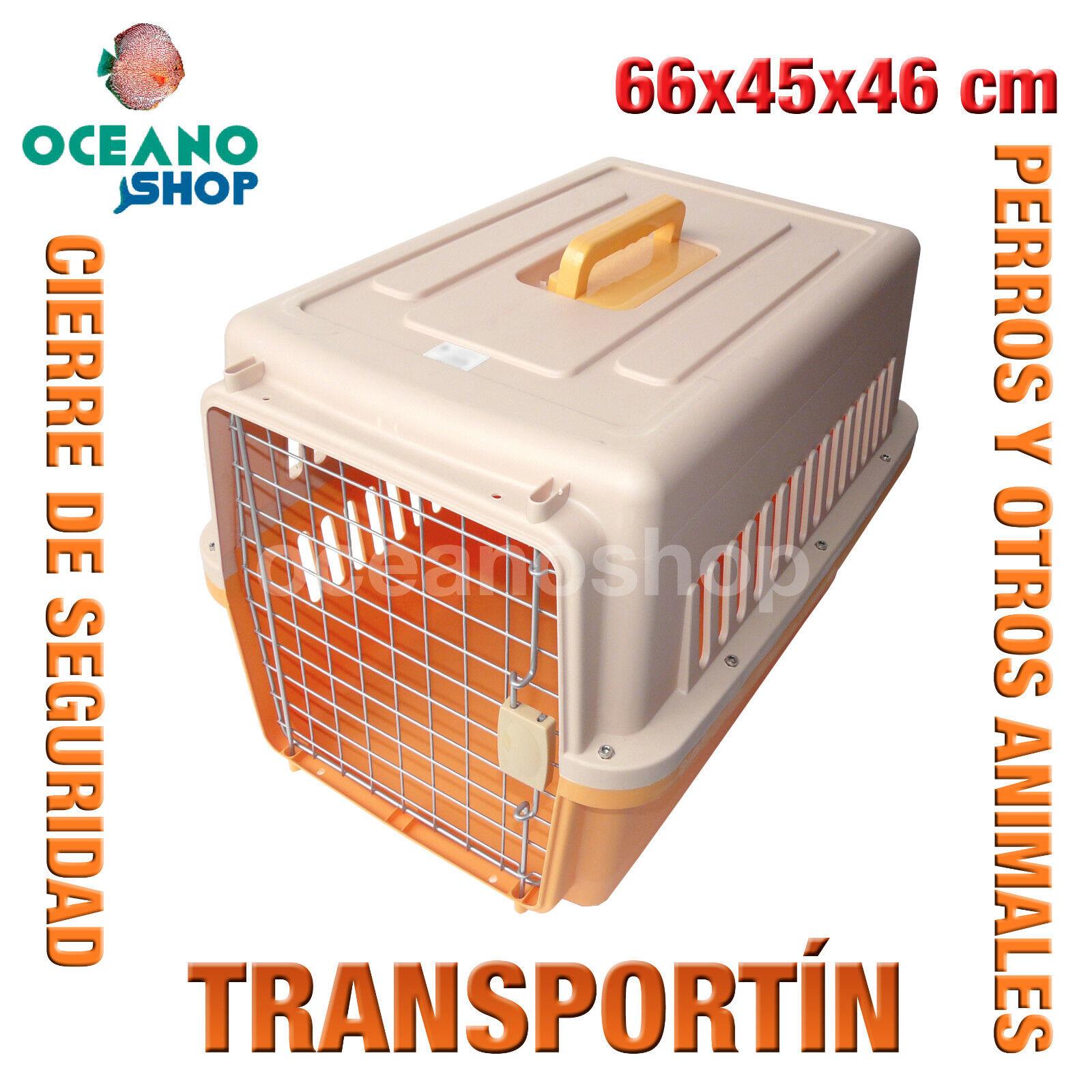 TRANSPORTIN PERROS MEDIANO CALIDAD ASA Y CIERRE SEGURIDAD 66x45x46 cm D529 0152