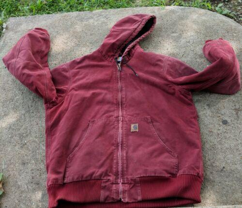 Carhartt red/ burgundy Canvas Hooded blanket Utili
