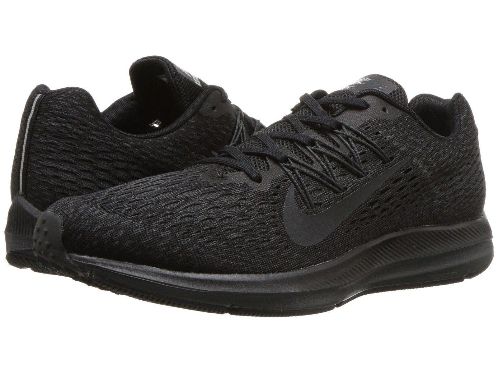 Men's Nike Air Zoom Winflo 5 Running Black/Anthracite Sizes 8-12 NIB AA7406-002