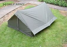 NEW French Army Tent 2 Man Lightweight Waterproof Tent Complete With Pegs + Pole